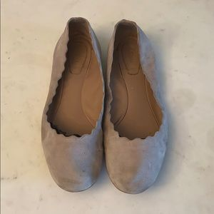 Chloe Lauren Scalloped Ballet flats